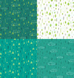 Wild Forest Hand Drawn Seamless Pattern Background Royalty Free Stock Photo