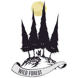 Wild forest Royalty Free Stock Image