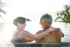 Wild and free mature woman stock photography