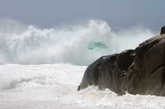 Wild and Furious Waves 2. Wild and furious waves live on Lovers' beach in Cabo San Lucas, Mexico Stock Images