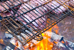Wild game grilling Stock Photo