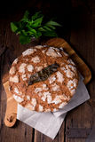 Wild garlic bread. A fresh and tasty wild garlic bread Royalty Free Stock Image