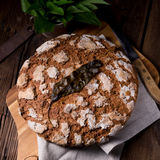 Wild garlic bread. A tasty wild garlic bread Royalty Free Stock Photo