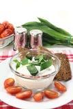 Wild garlic curd Royalty Free Stock Image