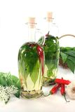 Wild garlic oil Royalty Free Stock Photos