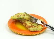 Wild garlic pancakes Stock Images