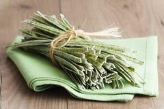 Wild Garlic Pasta Royalty Free Stock Images