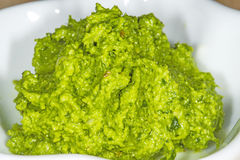 Wild garlic pesto Stock Image
