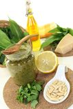 Wild garlic pesto Royalty Free Stock Photography