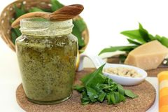 Wild garlic pesto Stock Images
