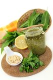 Wild garlic pesto Stock Photo