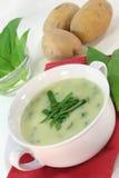Wild garlic soup Royalty Free Stock Photo