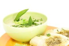 Wild garlic soup Royalty Free Stock Image