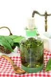 Wild garlic tincture Stock Images