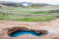 Wild geotermiskt bevattnar, Island Royaltyfri Foto