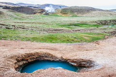 Wild geothermal water, Iceland Royalty Free Stock Photo