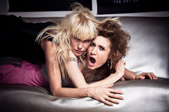 Wild girls Stock Images