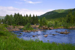 Wild glacier river, Norway Stock Photography
