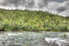 Wild glacier river Royalty Free Stock Photos