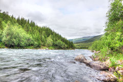 Wild glacier river Stock Photo