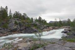 Wild glacier river Royalty Free Stock Photo