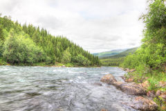 Wild glacier river Royalty Free Stock Image