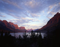 Wild Goose Island. In Saint Mary Lake located in Glacier National Park, Montana Royalty Free Stock Images