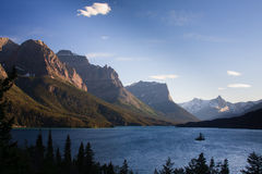 Wild Goose Island, Glacier National Park Stock Images
