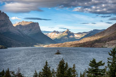 Wild Goose Island Glacier National Park Stock Photo