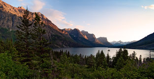 Wild goose island. Glacier National Park. Montana Stock Image