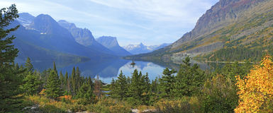 Wild Goose Island, Glacier National Park Stock Photo