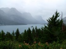 Wild Goose Island in the Rain Stock Images