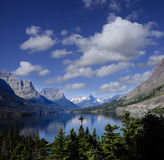 Wild Goose Island, St. Mary's Lake Glacier National Park Royalty Free Stock Photography