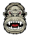 Wild gorilla vector illustration