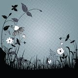 Wild grasses and flowers royalty free illustration
