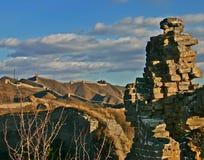 Wild greatwall in China beijing. Unrepair Royalty Free Stock Image