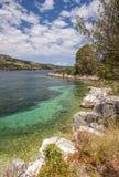 Wild Greek coastline Royalty Free Stock Image