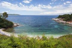 Wild Greek coastline Royalty Free Stock Photo
