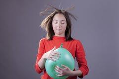 Wild haar van een ballonontploffing royalty-vrije stock foto's