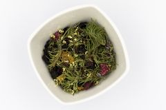 Wild herbs gathered from the mountains for tea. stock image