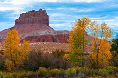 Wild Horse Butte Fall Colors and Beautiful Dramatic Sky Utah Lan Royalty Free Stock Images