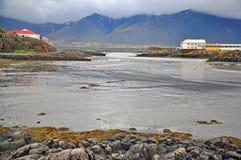 Wild icelandic landscape. Borgarnes city Royalty Free Stock Photography