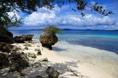 Wild indonesisk strand Fotografering för Bildbyråer