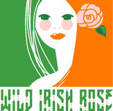 Wild Irish Rose Girl Stock Photography