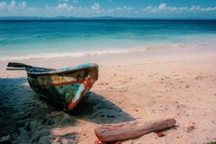 Wild island in caribbean Royalty Free Stock Photos