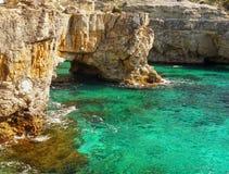 Wild Island Coast, Paxi Island, Travel Greece Royalty Free Stock Images