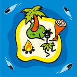 Wild island royalty free illustration