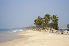 Wild Kappil-strand. Stock Afbeelding