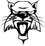 wild katt royaltyfri illustrationer