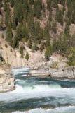 Wild Kootenai River Falls in Northwestern Montana2. The Kootenai Falls in Northwestern Montana. the River of the Kootenai flows through rugged rocks cut by time stock image